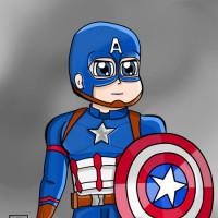 капітан-америка-сірий-фон